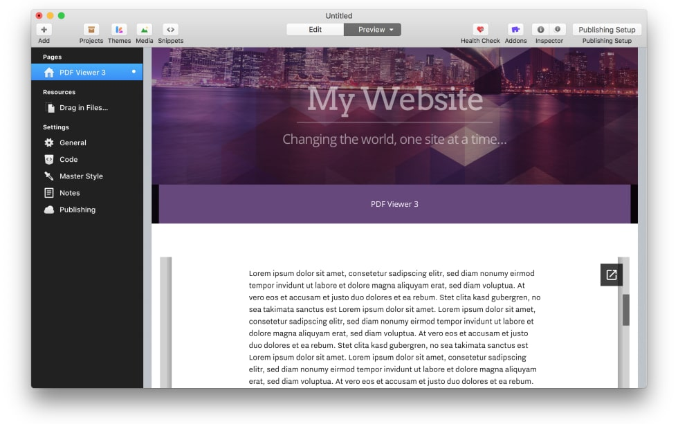 PDF Viewer 3 RapidWeaver Stack by RWtuts — RapidWeaver Community