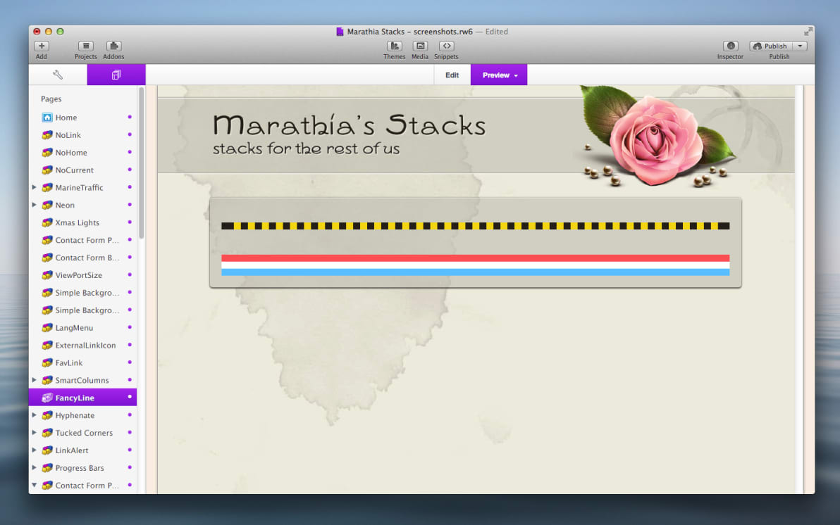 FancyLine Stack screenshot