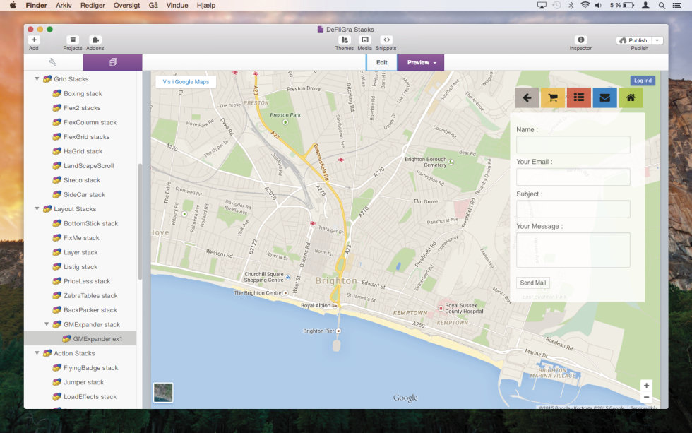 GoogleMap Expander Stack screenshot
