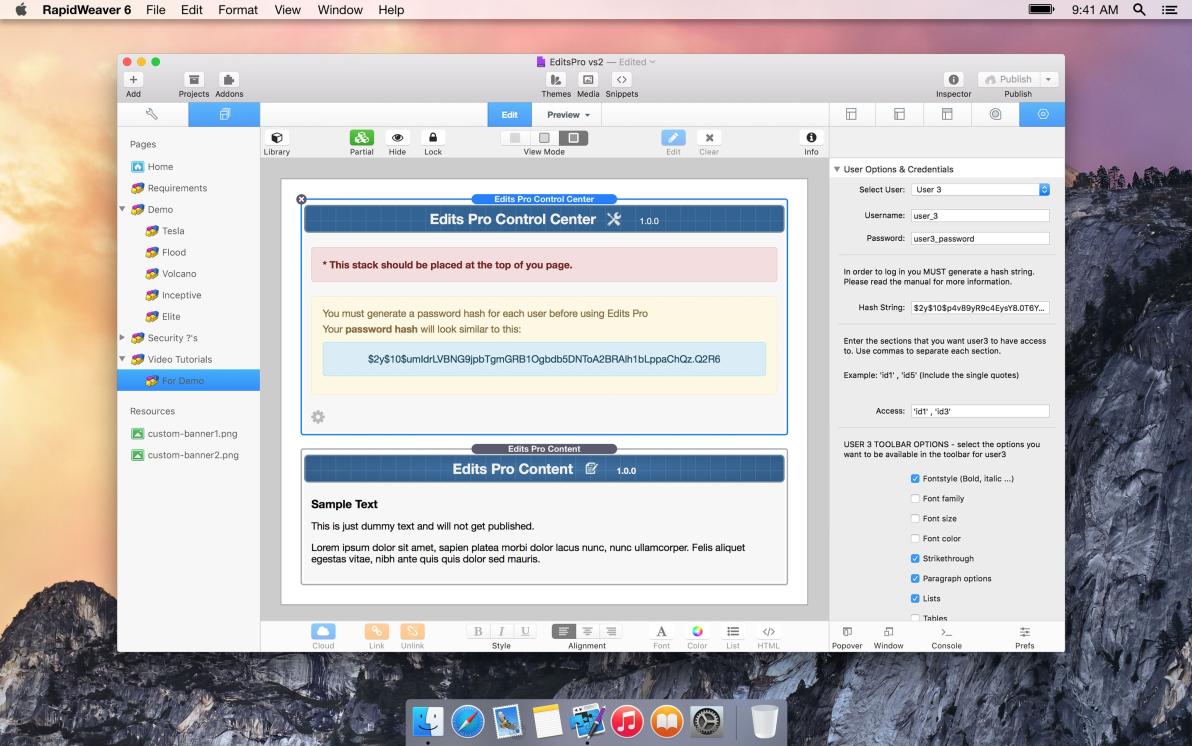 EditsPRO screenshot