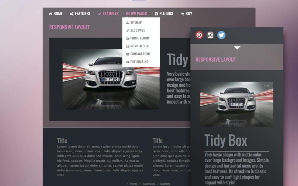 TidyBox screenshot