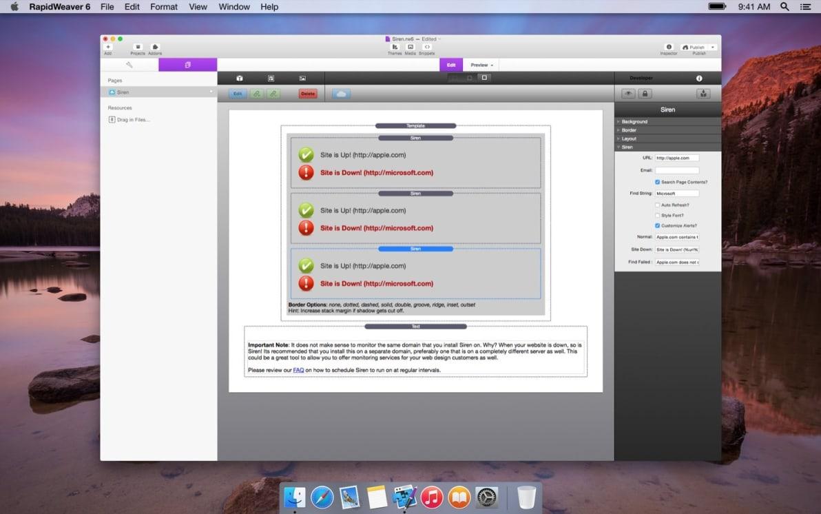 Siren screenshot