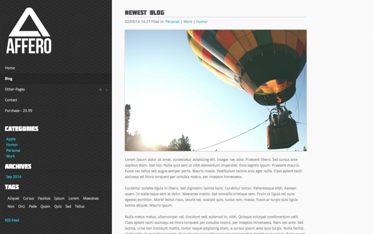 Affero 2 screenshot