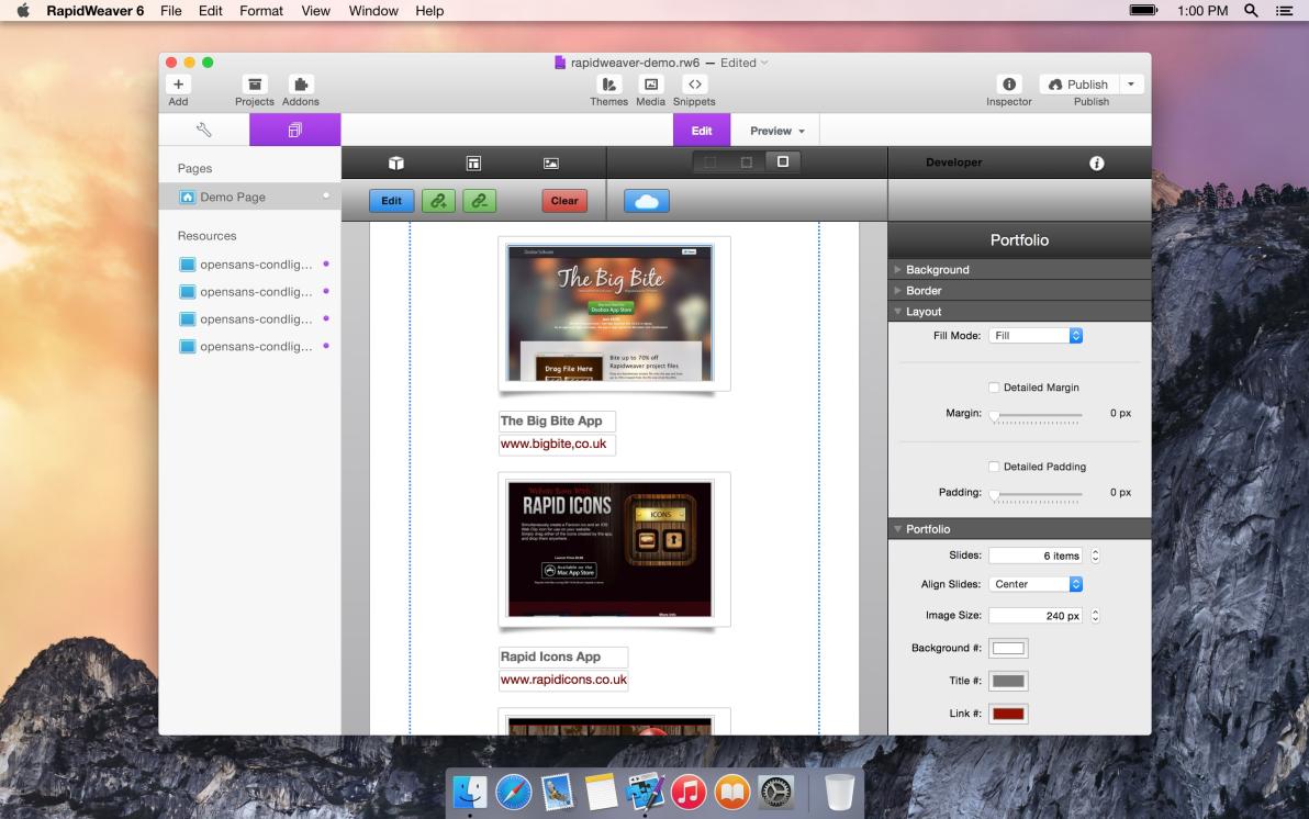 Portfolio Stack screenshot