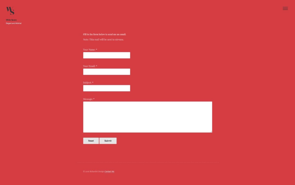 White Space Theme screenshot