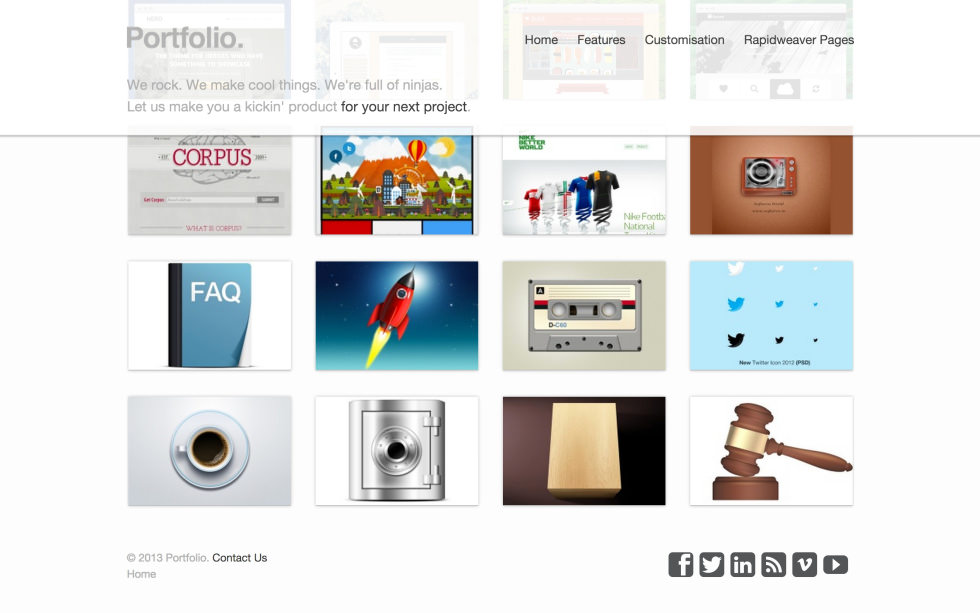 Portfolio screenshot
