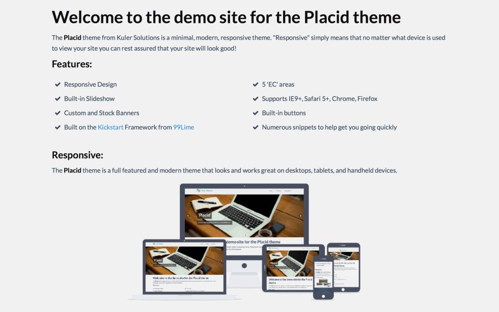 Placid Theme RapidWeaver Theme by Kuler Solutions — RapidWeaver