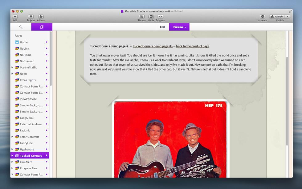 Tucked Corners Stack screenshot