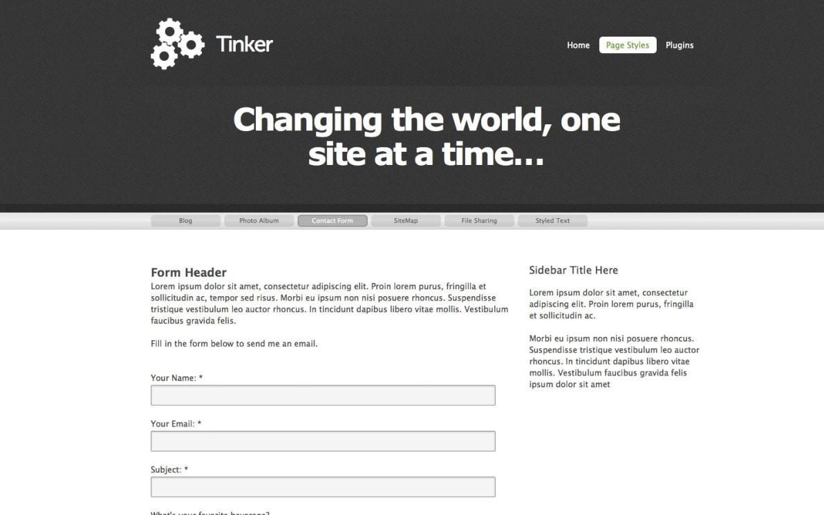 Tinker screenshot