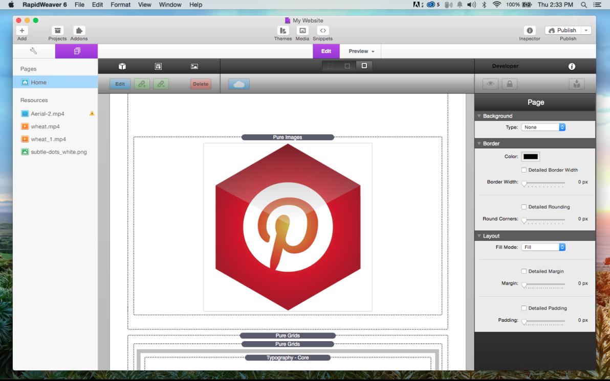 Pinterest Connect screenshot