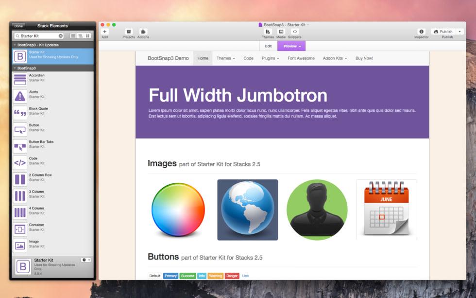 BootSnap3 - Starter Kit screenshot