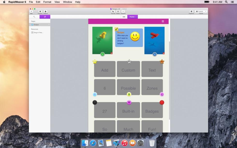 Badges screenshot