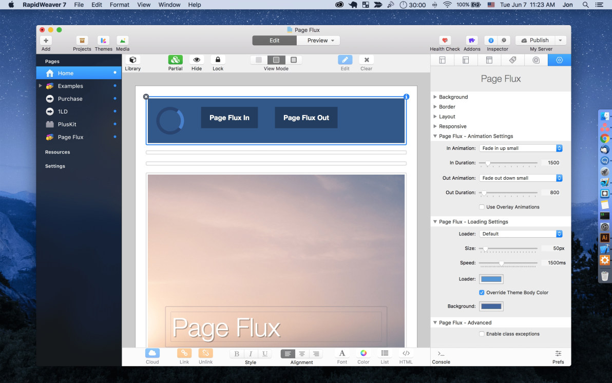 Page Flux screenshot