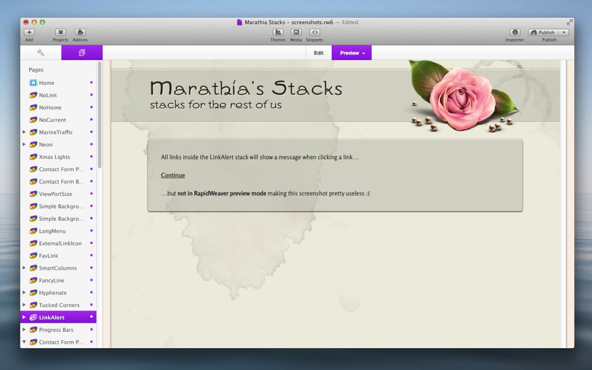 LinkAlert Stack screenshot