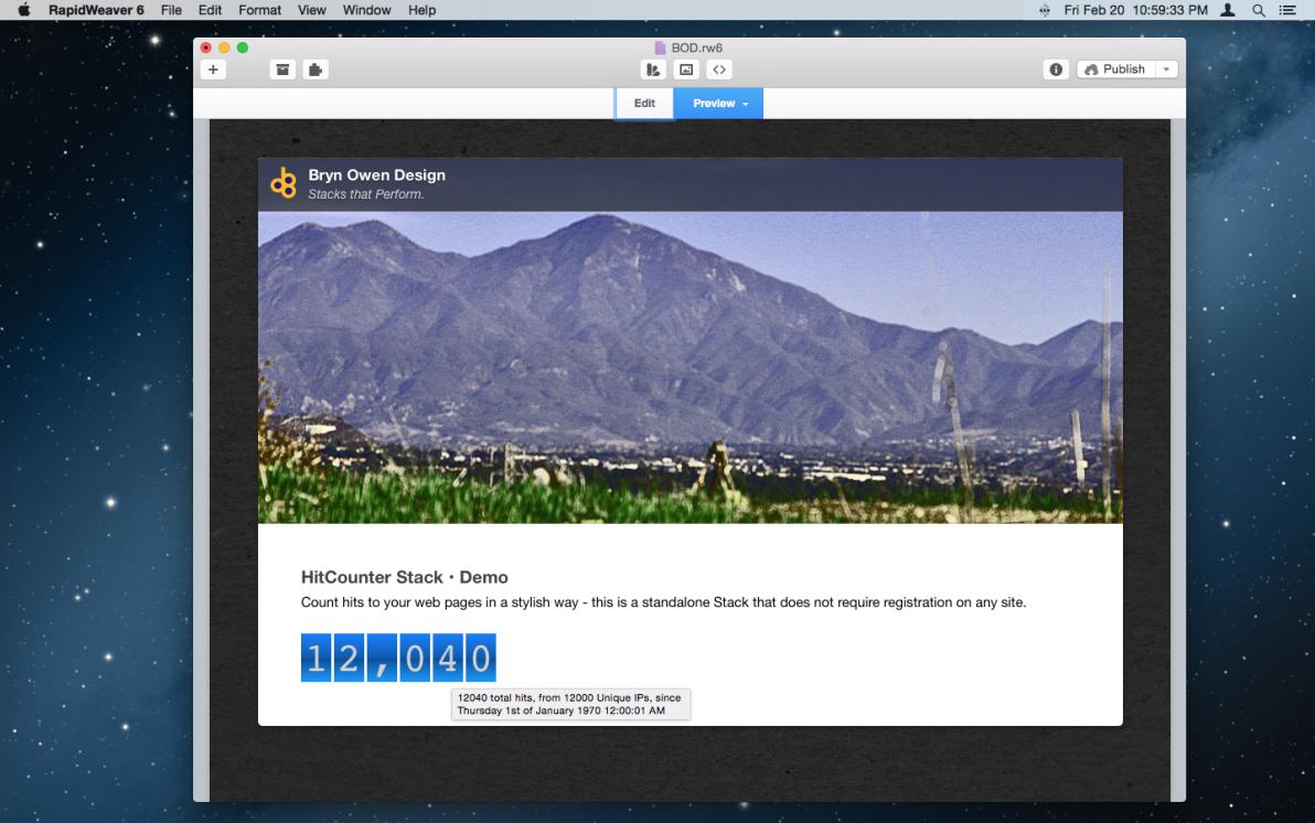 HitCounter Stack screenshot