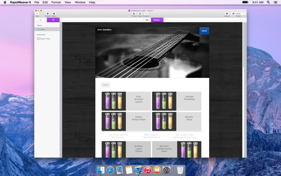 Fluid Columns screenshot