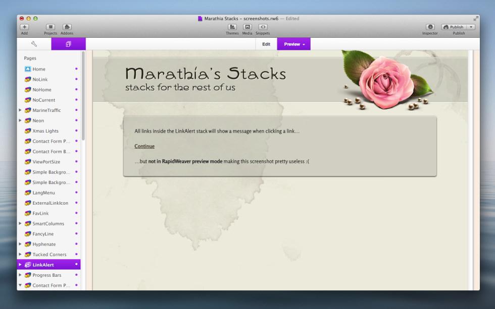 LinkAlert Stack screenshot