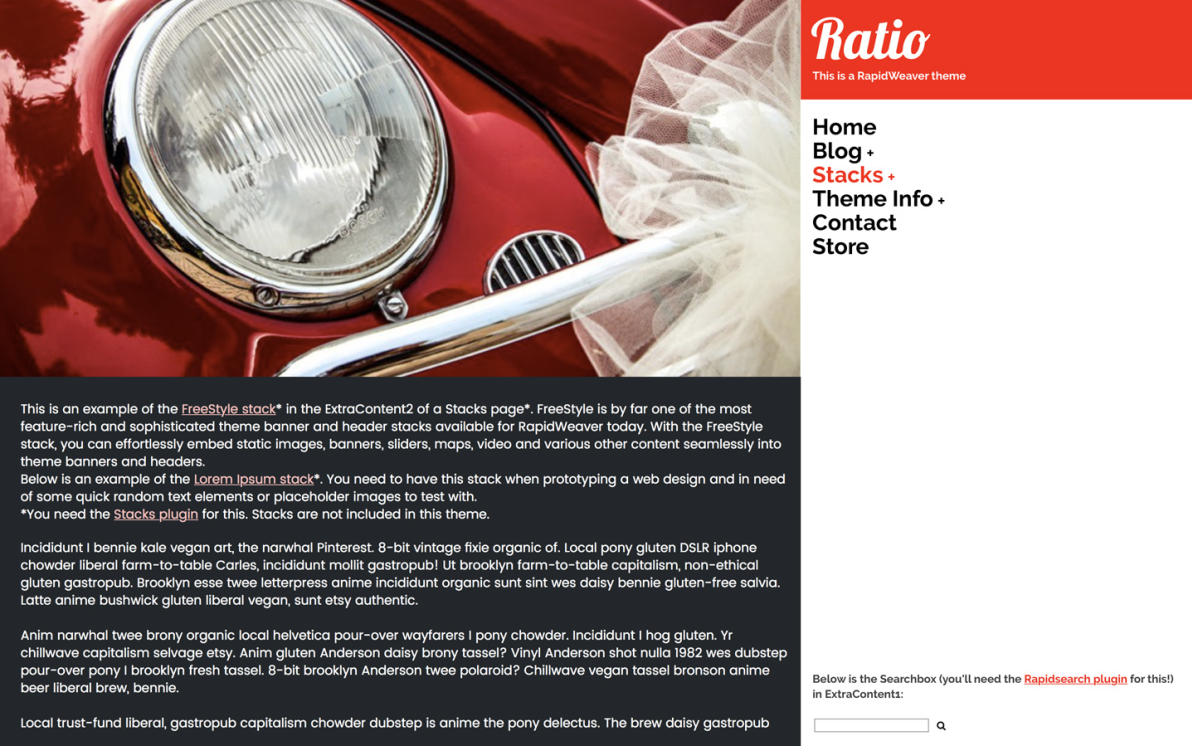 Ratio screenshot