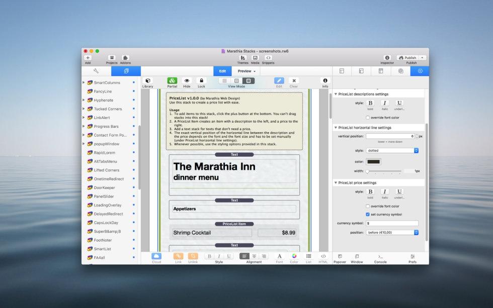 PriceList Stack screenshot