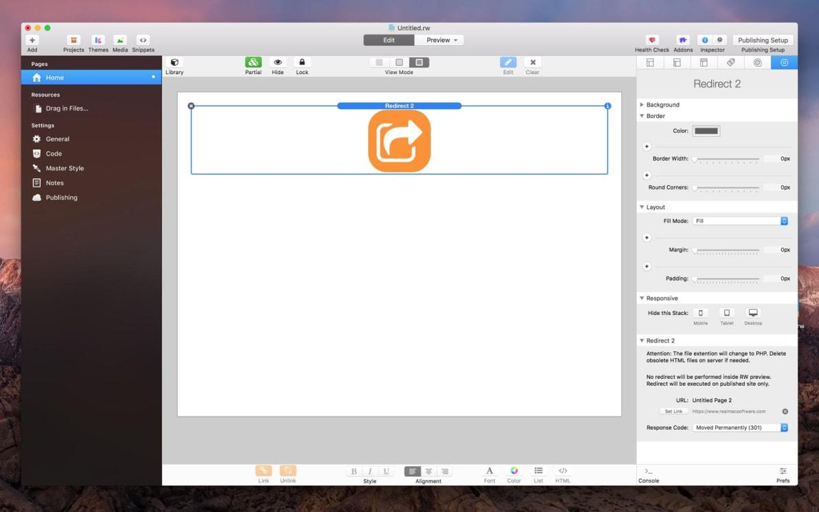 Redirect Stack screenshot