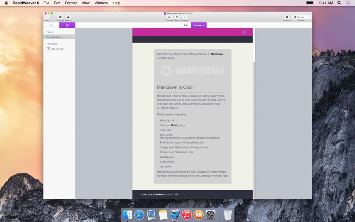 Markdown screenshot