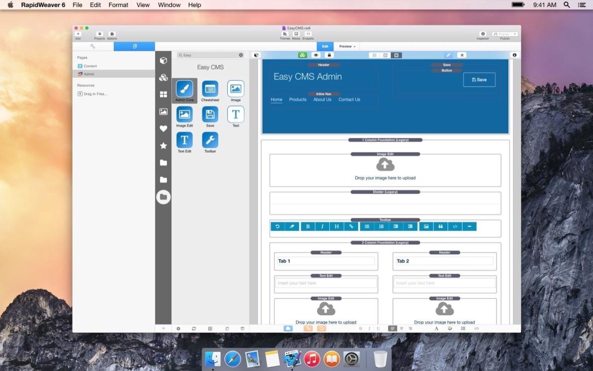 Easy CMS screenshot
