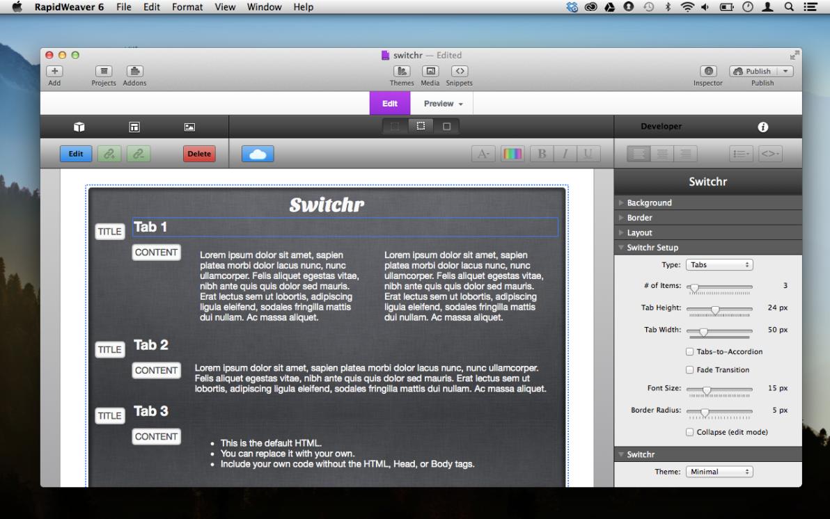 Switcher screenshot