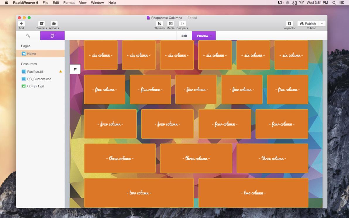 Responsive Grids screenshot