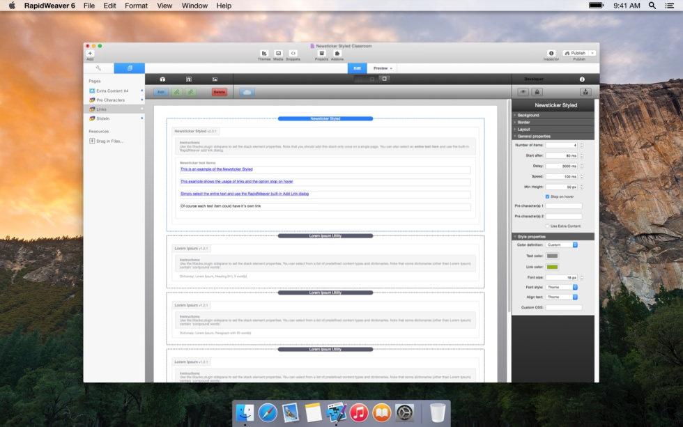News Ticker screenshot