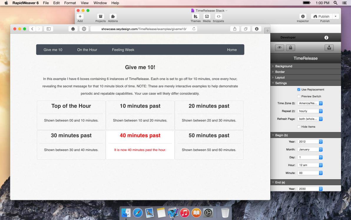 seyDesign TimeRelease screenshot