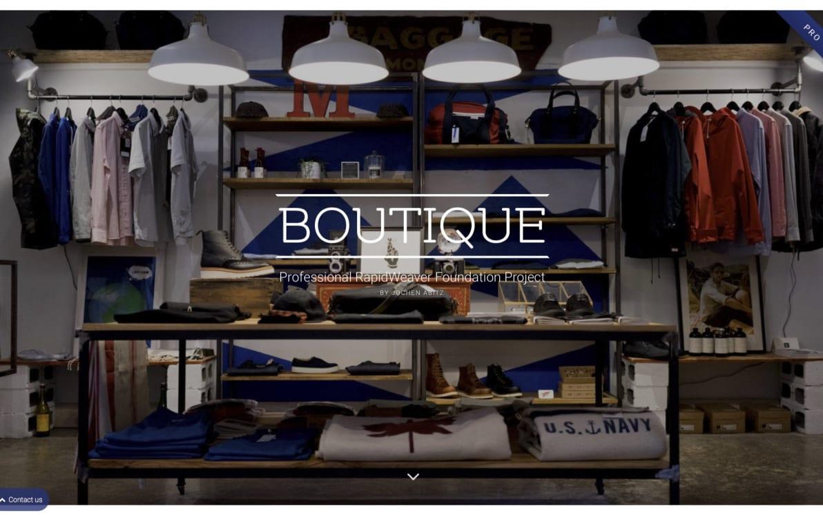 Boutique screenshot