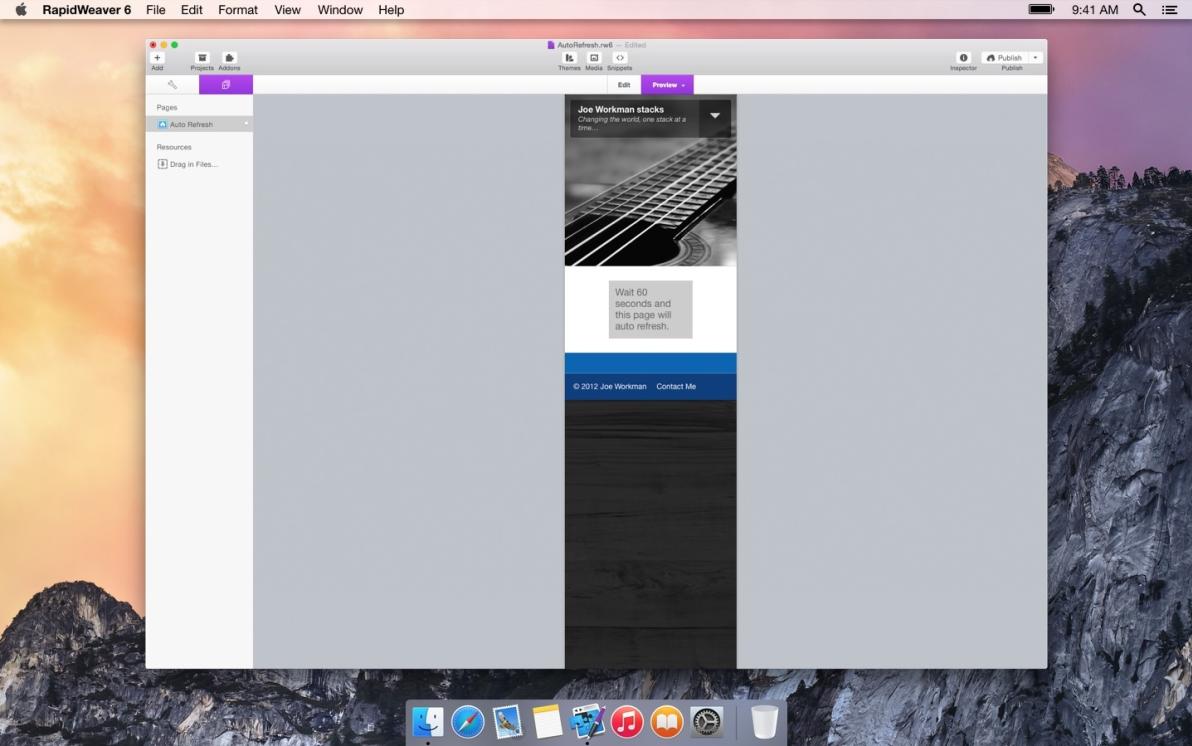 Auto Refresh screenshot