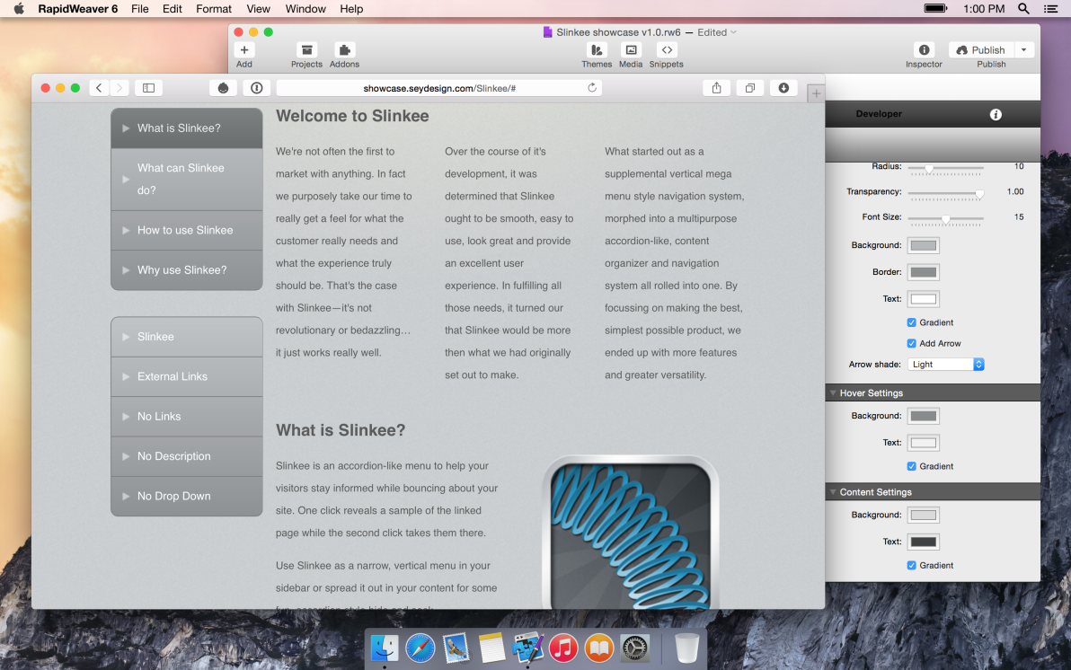 seyDesign Slinkee screenshot