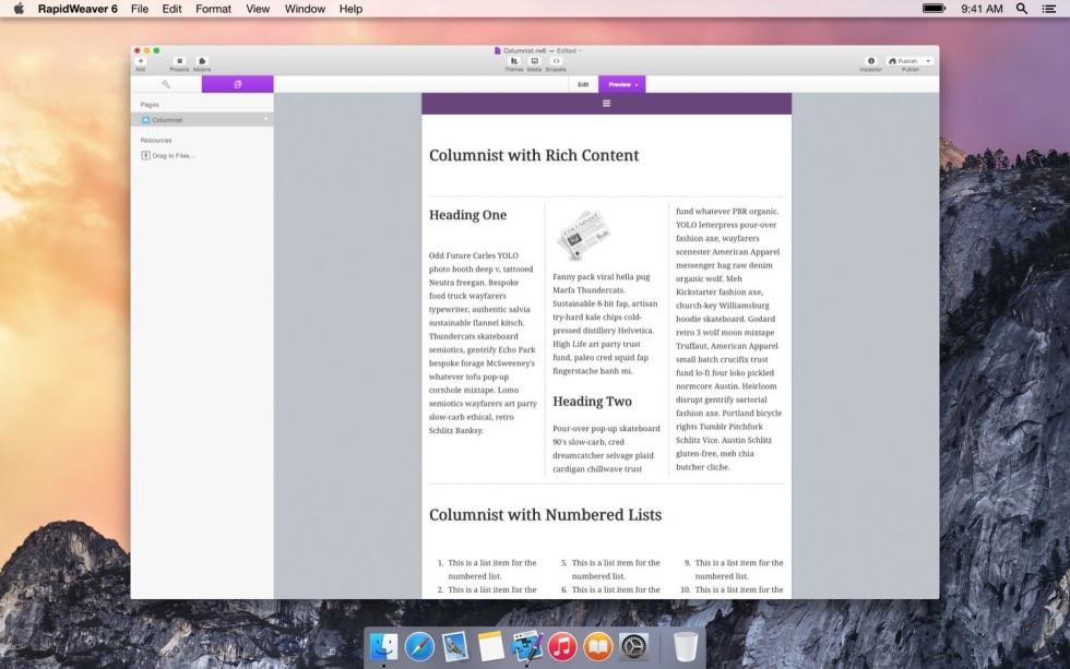 Columnist screenshot