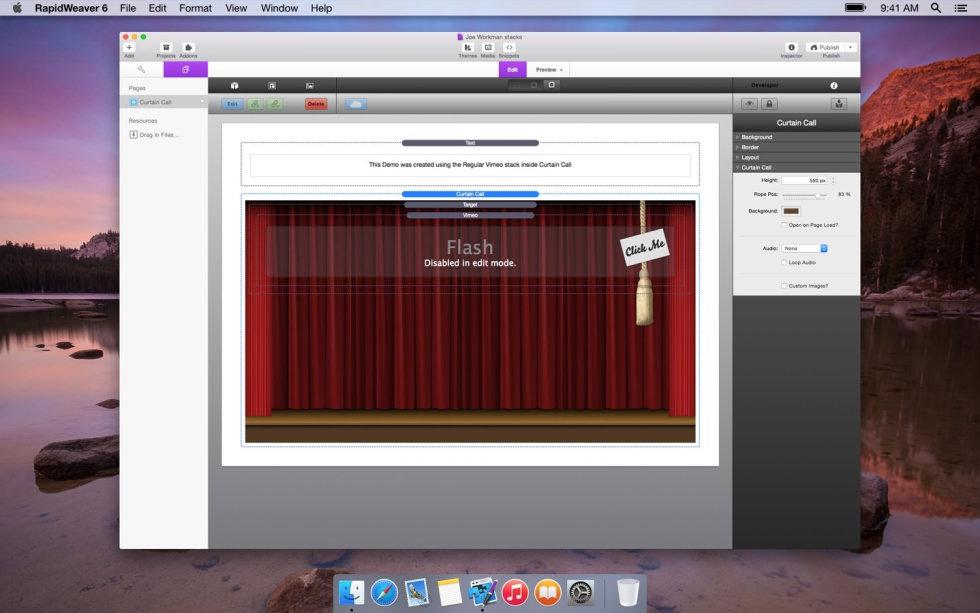 Curtain Call screenshot