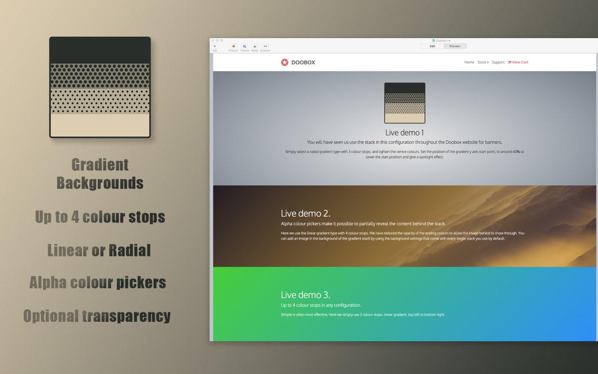 Gradient screenshot