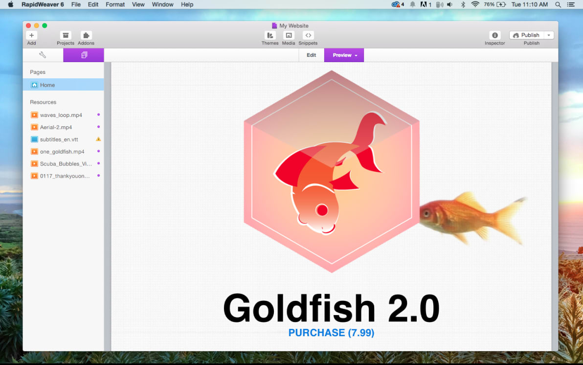 GoldFish screenshot