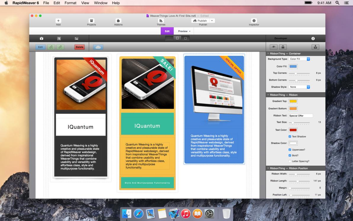 RibbonThing screenshot