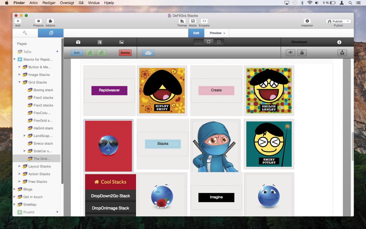 The Grid Stack screenshot
