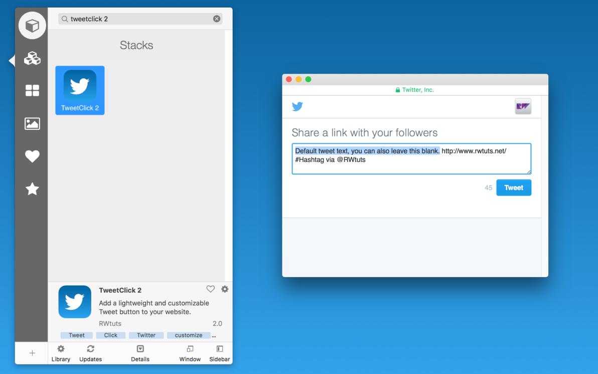 TweetClick 2 screenshot