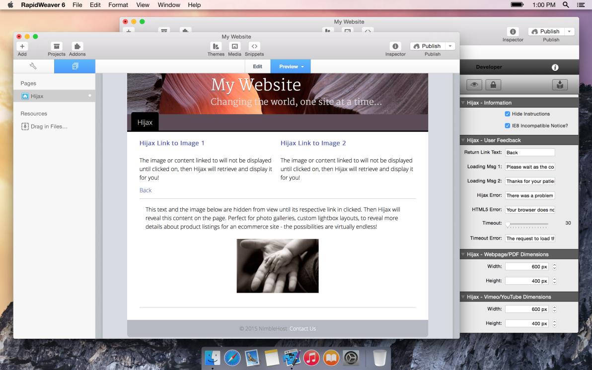 Hijax screenshot