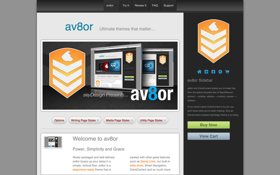 seyDesign av8or screenshot