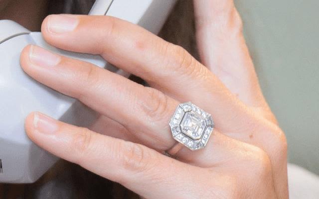 Pippa Matthews' Asscher cut engagement ring