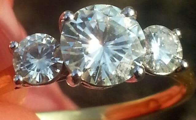 Moissanite vs. real diamonds