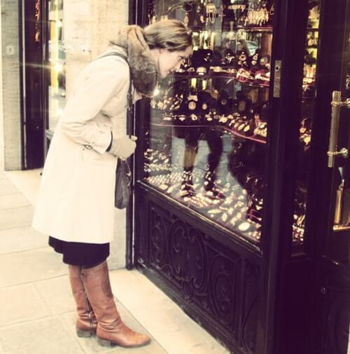 She's window shopping engagement rings