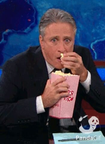 Eating popcorn spying on your proposal