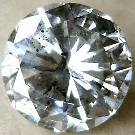 Non-transparent crystal diamond inclusions