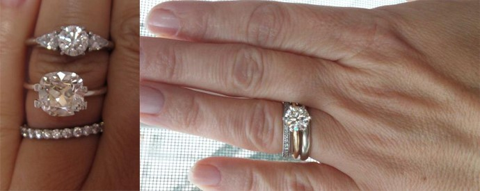 real diamond ring color comparison