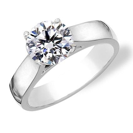 $1100 solitaire diamond engagement ring