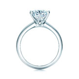 Side view of Tiffany engagement ring